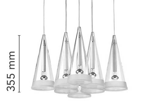 Fucsia 12 Lamp Suspension Flos
