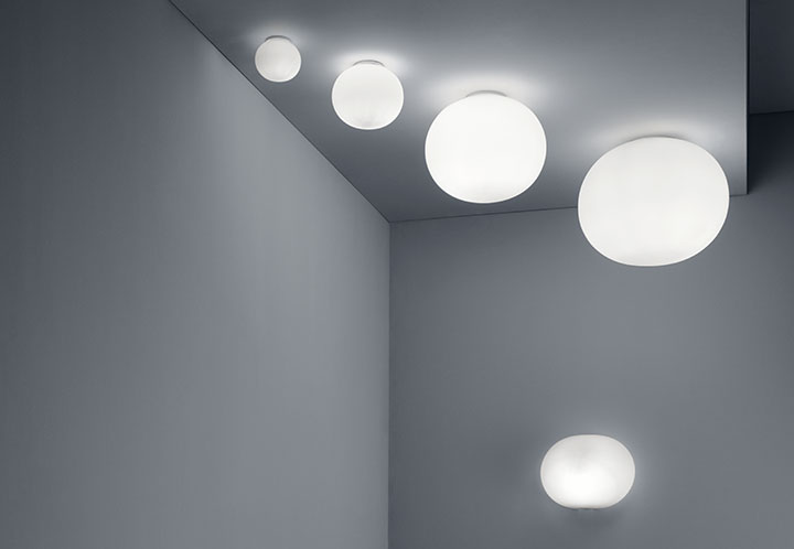 Glo Ball Ceiling 2 Lamp Wall Ceiling Flos