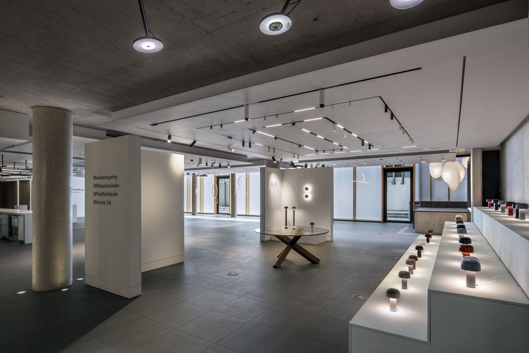 Flos Introduces New Lighting Designs At Atrium In London