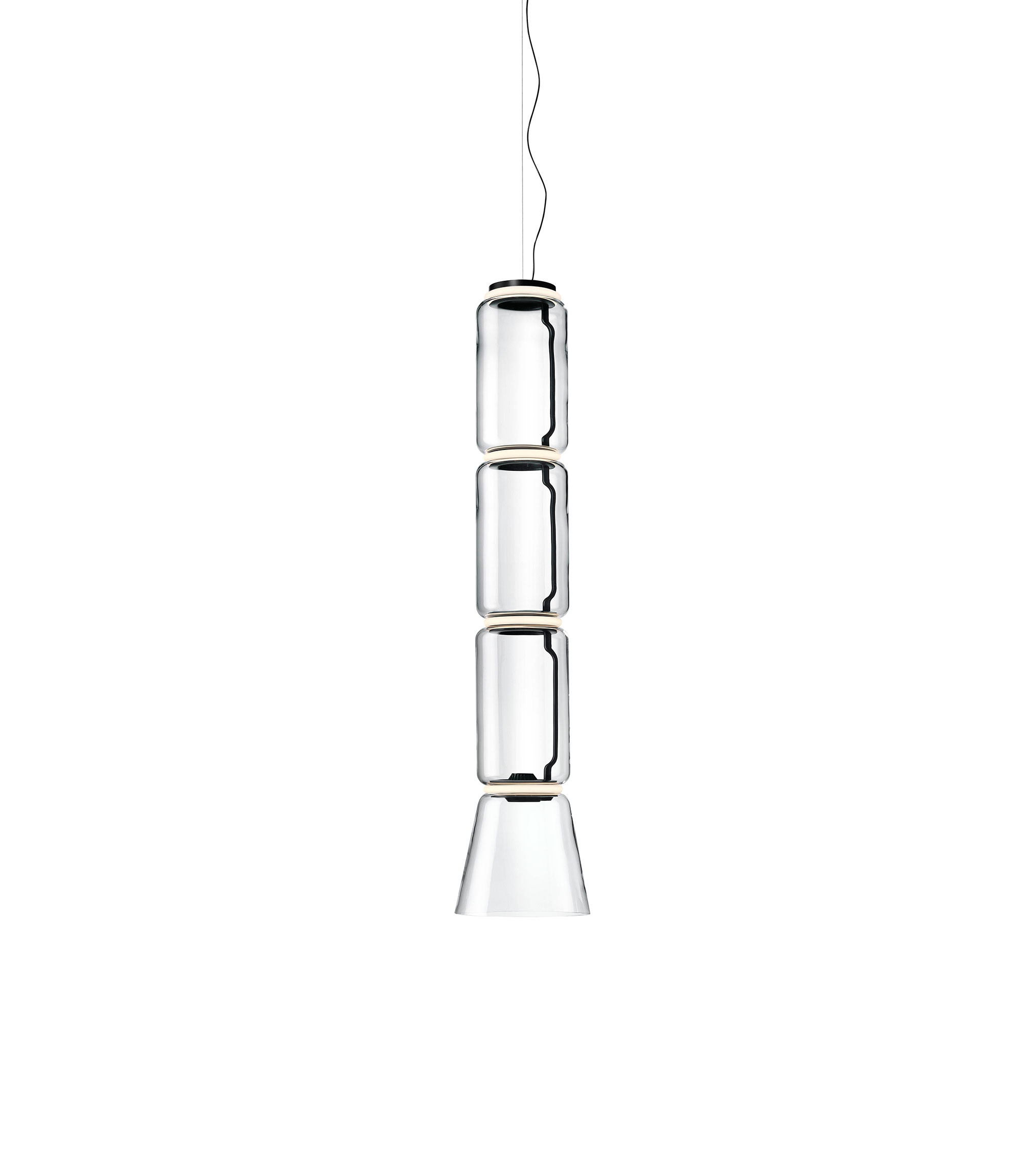 Noctambule 3 low cylinders cone suspension grcic flos F0271000 product still life big