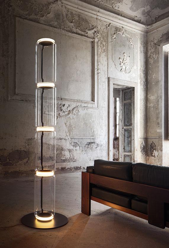 Noctambule Floor 3 High Cylinders Small Base Lamp Floor