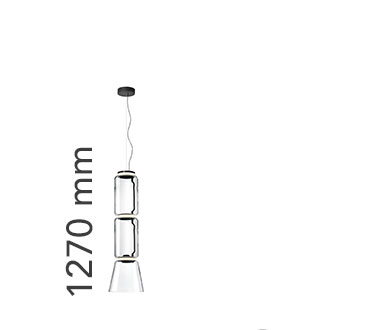 Noctambule Suspension 2 Low Cylinder And Cone Lamp
