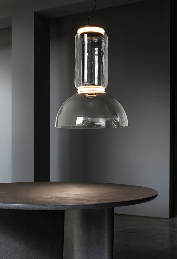 Noctambule Suspension 3 Low Cylinder And Bowl Lamp